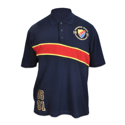 Polo shirt navy (stripe)