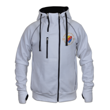 DIF white 3-zip Hoodie Jacket