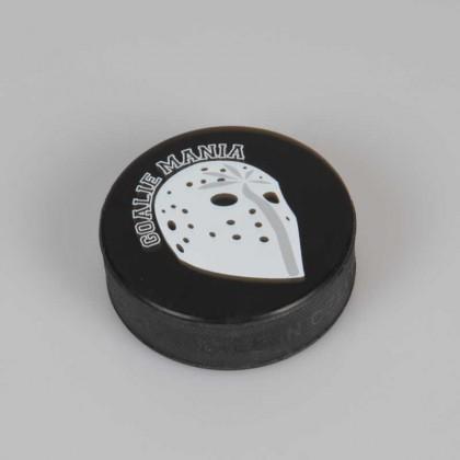 Goalie Mania Hockey Puck