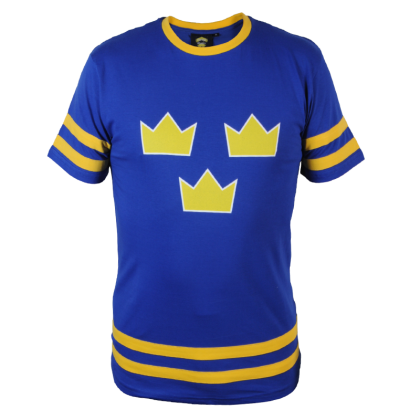 Sverige blå hockey t-shirt