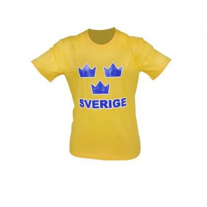 SWE T-shirt Tre Kronor gul