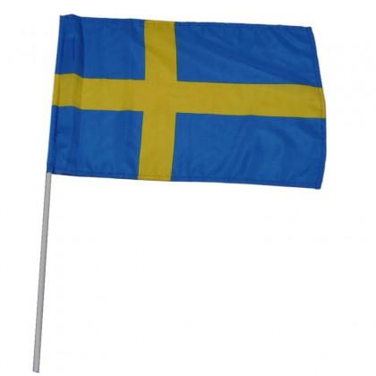 Sweden handheld flag